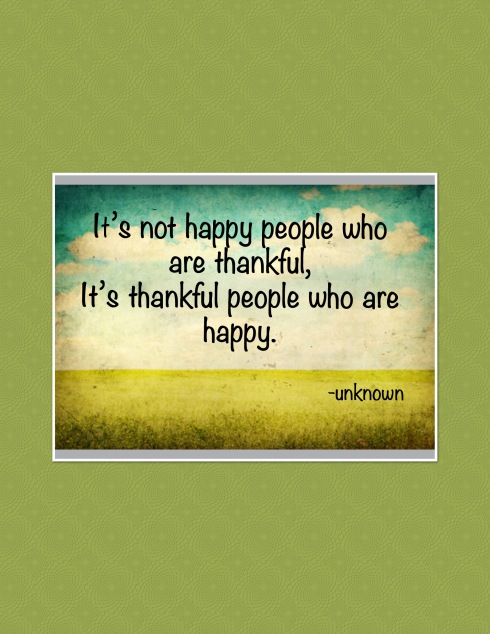 Be Thankful Be Happy.